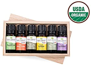 Plant Therapy Essential Oils Top 6 Usda Certified Organic Essential Oil Set