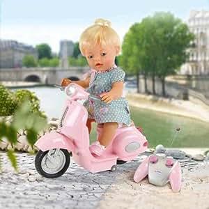 baby born bambina mit motorroller spielzeug. Black Bedroom Furniture Sets. Home Design Ideas