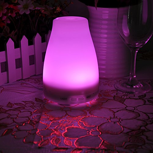 Lychee Best Fragrance Aroma Essential Oil Diffuser Aromatherapy Mist Maker Air Humidifier Moistener Atomizer with LED Lamp (130ml, Multicolor)