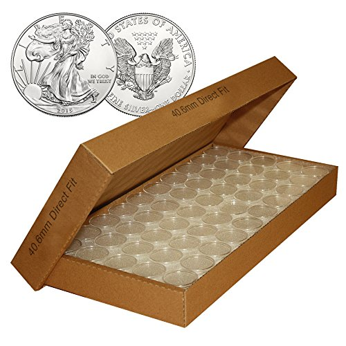 1000-Direct-Fit-Airtight-406mm-Coin-Holder-Capsules-Holders-For-SILVER-EAGLE-Oz