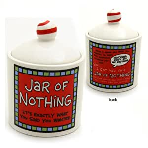 Jar Of Nothing Novelty Jar Cookie Jars