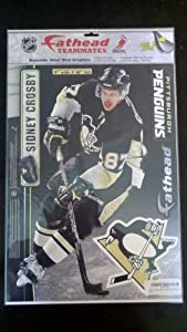 """Sidney Crosby Fathead Pittsburgh Penguins NHL Official Wall Graphic 16""""x12"""""""