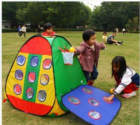子供用テント ボールで遊ぼう! ゴール穴付きテント