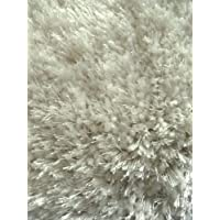 White Shag Rug 7 Ft. 8 In. X 10 Ft. 6 In. Afro Design