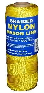 T.W . Evans Cordage 12-504 Number-1 Braided Nylon Mason Line, 1000-Feet, Yellow