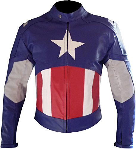 Leatherfashion Men's Captain America Second Avengers Leather Jacket