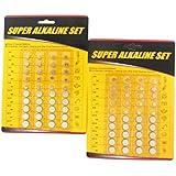 80 Piece Alkaline Button Battery Set