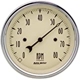 Auto Meter 1890 Antique Beige Electric Tachometer