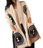 Teeta(TM) Women's Lady Winter Cashmere Wool Scarf Shawl With Pocket Pashmina Double Side