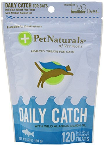 Pet Naturals Of Vermont Daily Catch Treat For Cats, 120 Treats, 5.29 Ounces