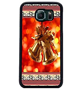 PrintDhaba Christmas Bells D-2515 Back Case Cover for SAMSUNG GALAXY S6 (Multi-Coloured)