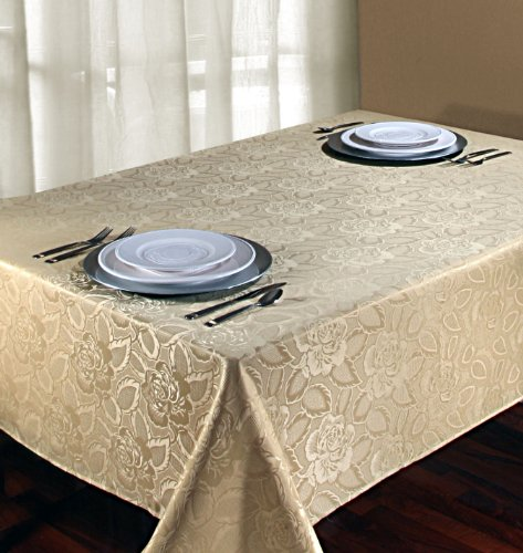Regal home collections laura rose damask oblong rectangle for 102 inch table runners
