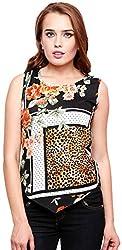 ShilpKala Women's Sleeveless Top (skt3061m, Black, Medium)