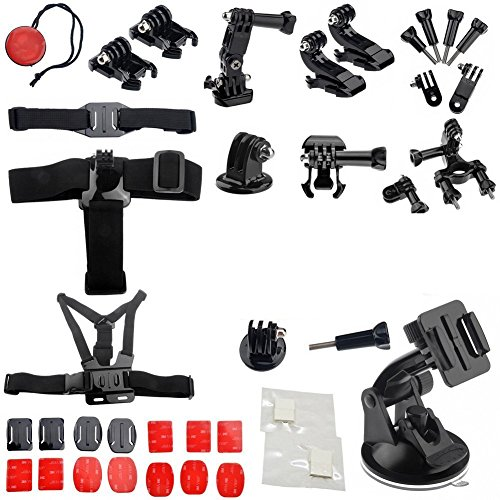 Generic 33KITCOMBO GoPro Accessory Ultimate Combo Kit for GoPro Hero3+, Hero3, Hero2 and Hero Cameras (Black)