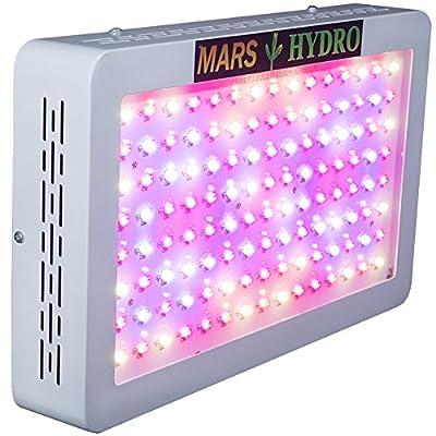 MarsHydro Mars 600 LED Grow Light Full Spectrum Hydroponic For Plants Vegetative Flowering Less Heat Bigger Yields