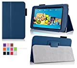 Circumstance for Fire HD 6 - Elsse Premium Folio Box with Stand for Fire HD 6 (Oct, 2014 Let go) - Dark Blue