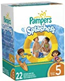Pampers Splashers Diapers - Jumbo Pack - 22 ct., Size 5 by Procter & Gamble