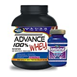 Advance Arginine 100gm& ADVANCE 100% WHEY 25gm Protein Per 33gm 2kg Chocolate (Combo Offer)