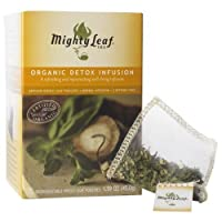 Mighty Leaf Herbal Tea, Organic Detox Infusion, 15 Pouches (Pack of 3)