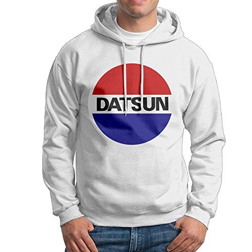 COCO Nissan Genuine Datsun Sweatshirt For Men Size L White (Datsun Hoodie compare prices)