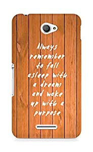 AMEZ always remember to fall asleep with a dream Back Cover For Sony Xperia E4