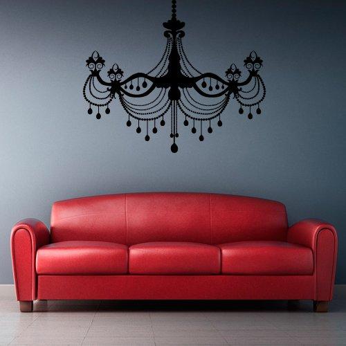Wall Vinyl Sticker Decals Decor Art Bedroom Living Room Dorm Light Lamp Gift Chandelier (Z2550) front-989179