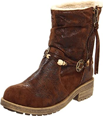 Big Buddha Women's Antic Ankle Boot,Brown Distress,5 M US