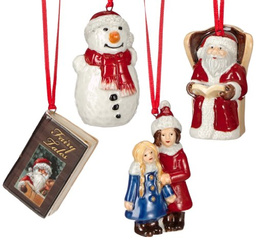 VILLEROY & BOCH NOSTALGIC ORNAMENTS Fairytale park ornaments set of 4