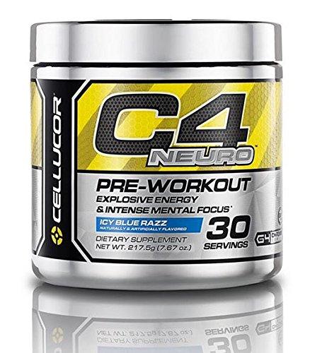 Cellucor C4 Neuro Pre-Workout, 30 Servings (Icy Blue Razz) 7.67 oz