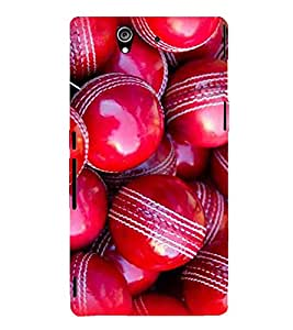 EPICCASE Cricket Ball Mobile Back Case Cover For Sony Xperia Z (Designer Case)