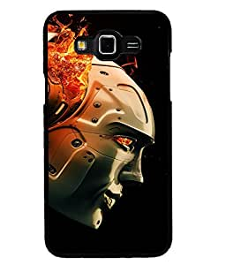 Fuson Premium Robot Music Metal Printed with Hard Plastic Back Case Cover for Samsung Galaxy Grand Max G7200