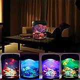 SOLMORE 18*22.5CM Aquarium LED Lampe avec 3 Plastique Méduses 4 Changement de Couleur