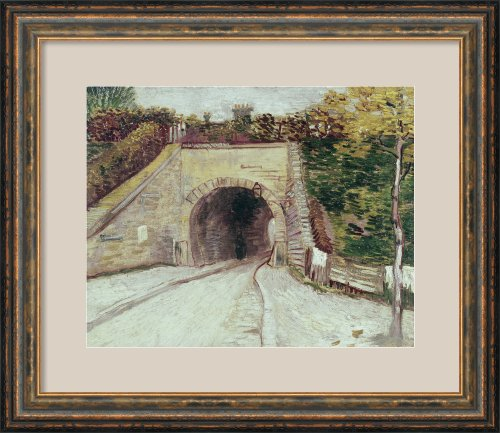 Title Unknown (Tunnel Thru Hillside) By Vincent Van Gogh Framed front-794748