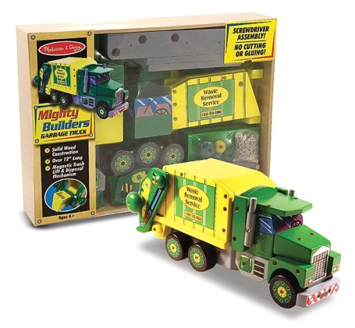 Mighty Builder Garbage Truck by Melissa & Doug - Buy Mighty Builder Garbage Truck by Melissa & Doug - Purchase Mighty Builder Garbage Truck by Melissa & Doug (Melissa & Doug, Toys & Games,Categories)