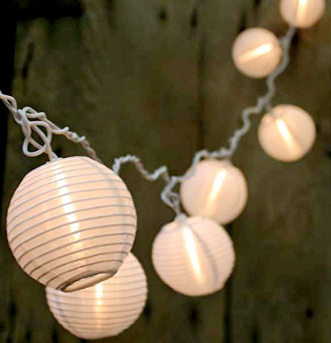 Qualizzi® Set of 10 Warm White Chinese Lantern