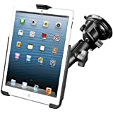 RAM Mount Suction Cup Mount With Apple iPad mini EZ ROLL'R Cradle