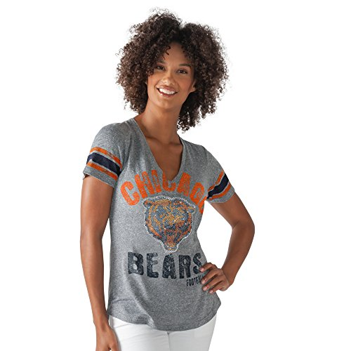 NFL Chicago Bears Women's Any Sunday Tee, Heather Grey, Small/Medium (Chicago Bears Womens Jersey compare prices)