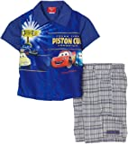 Kids With Character Boys 2-7 Two Piece Cars Plaid Short Set Blue Toddler