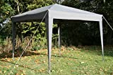 Airwave 3x3mtr Pop Up Waterproof Gazebo in Grey with 2 WindBars and 4 Leg Weight Bags