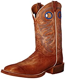 Justin Boots Men\'s 11 Inch Bent Rail Riding Boot, Beige Chievo Cowhide, 13 D US