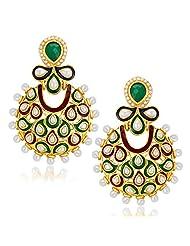 Sukkhi Astonish Gold Plated Australian Diamond Dangle & Drop Earrings For Women