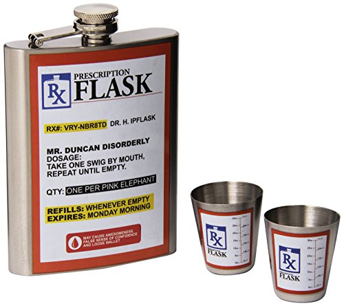 BigMouth Inc RX Flask Gift Set