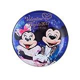 バレンタイン・ナイト2017 カンバッジ 缶バッジ ミッキーマウス ミニーマウス 【東京ディズニーシー限定】