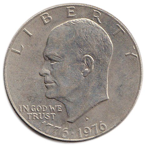 1976 Dwight Eisenhower Ike Large Size Dollar Coin