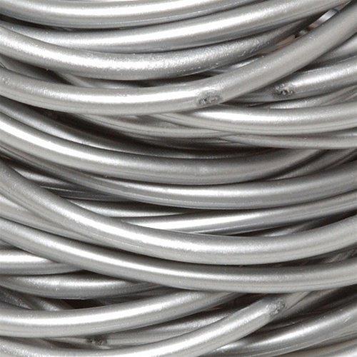 Silver Rubber Bracelets 6pc