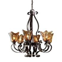 Hot Sale Uttermost 21006 Vetraio 6-Light Chandelier, Oil Rubbed Bronze Finish