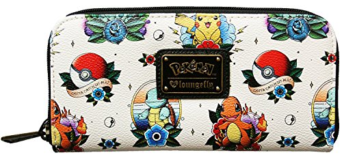 loungefly-pokemon-go-pikachu-squirtle-bulbasaur-characters-pokeball-zip-wallet