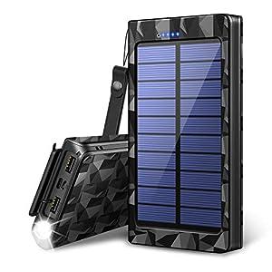 24000mAh モバイルバッテリー ソーラーチャージャー ソーラー充電器 大容量 急速充電