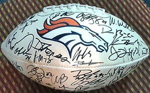 Denver Broncos 2013 14 Team Autographed Logo Football by Denver Broncos Logo Football