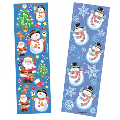 Christmas Strip Stickers- 8ct - 1